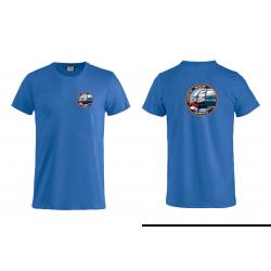 Basic T-shirt blauw (logo...